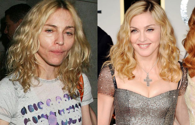 20 HOLLYWOOD CELEBRITIES WITH AND WITHOUT MAKEUP